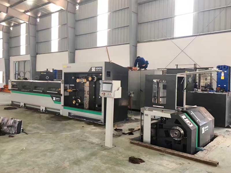 8 Head Drawing Production Line Electric Wire Making Machine HT.MD120.03.19.08